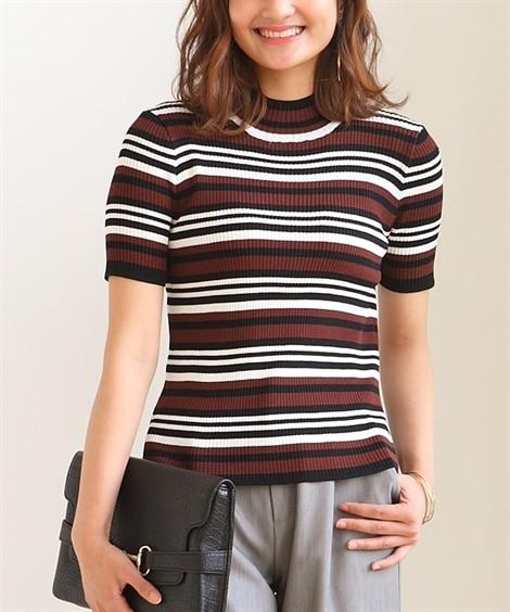 小さいサイズ 半袖ハイネックセーター アンサンブル