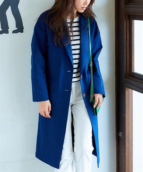 ロング丈デニムジャケット (ジャケット・ブルゾン)(レディー...