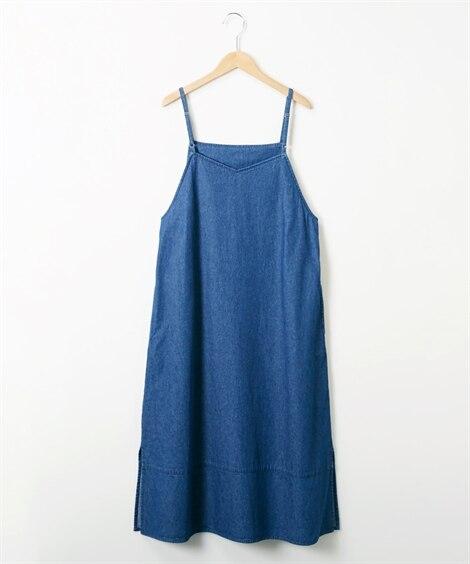 春物新作!デニムキャミワンピース (ワンピース)Dress,...