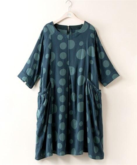 【大きいサイズ】 ゆったりチュニックワンピース【Varrouda】 ワンピース, plus size dress
