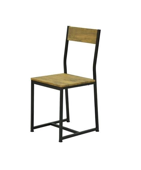 """""""大人ヴィンテージな空間に""""木目調×ブラックスチールのチェア オフィスチェア・ワークチェア, Chairs(ニッセン、nissen)"""