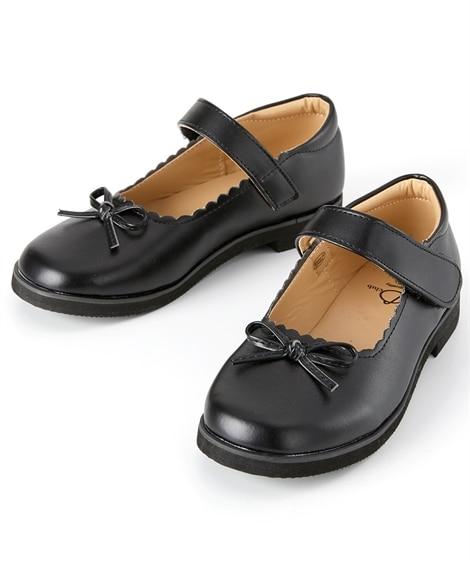 フラワーカットリボンフォーマルシューズ 子供フォーマル靴...