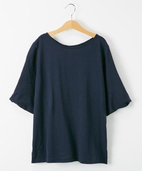 <ニッセン> 綿100% バイオシルケット袖ねじりプルオーバー (Tシャツ・カットソー)(レディース)T-shirts
