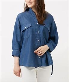 <ニッセン> 綿100% バイオシルケット袖ねじりプルオーバー (Tシャツ・カットソー)(レディース)T-shirts 4