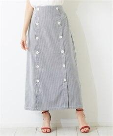 <ニッセン> スカーフ柄プリント ギャザーフレアスカート (ロング丈・マキシ丈スカート)skirt 6