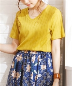 <ニッセン> スカーフ柄プリント ギャザーフレアスカート (ロング丈・マキシ丈スカート)skirt 15