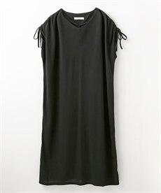 <ニッセン>楽ちんカットソー素材 ウエストベルト付きワンピース (ワンピース)dress 25