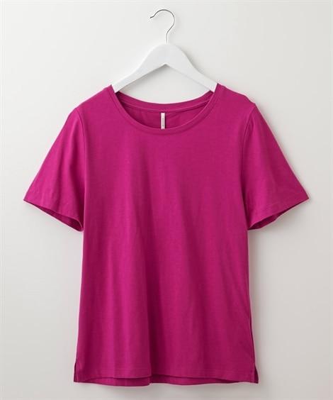 【汗染み防止】選べる2ネックシンプルTシャツ(Uネック。Vネ...