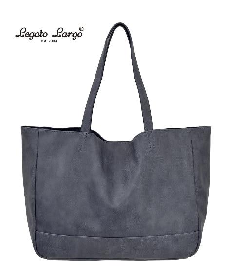 Legato Largo(レガートラルゴ)スモーキーフェイクレザートートバッグ(A4対応) トートバッグ・手提げバッグ, Bags