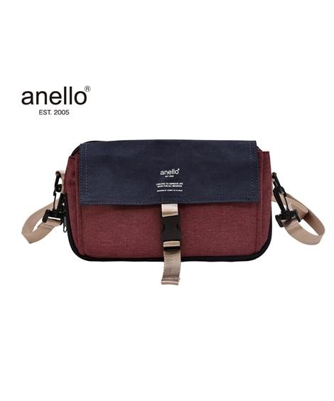 anello(アネロ)杢調多収納ミニショルダーバッグ ショル...