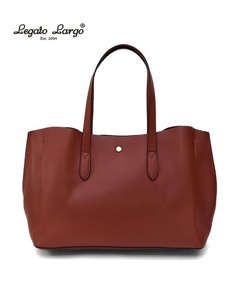 【新色追加】Legato Largo(レガートラルゴ)軽量ボンディングフェイクレザートートバッグ(A4対応) トートバッグ・手提げバッグ, Bags