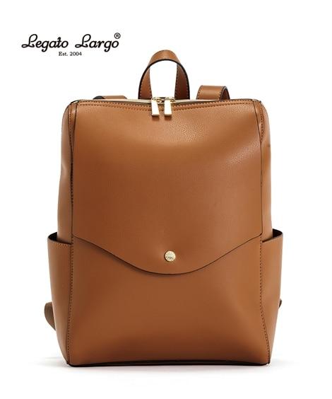【新色追加】Legato Largo(レガートラルゴ)軽量ボンディングフェイクレザーリュック(A4対応) リュック・バックパック・ナップサック, Bags