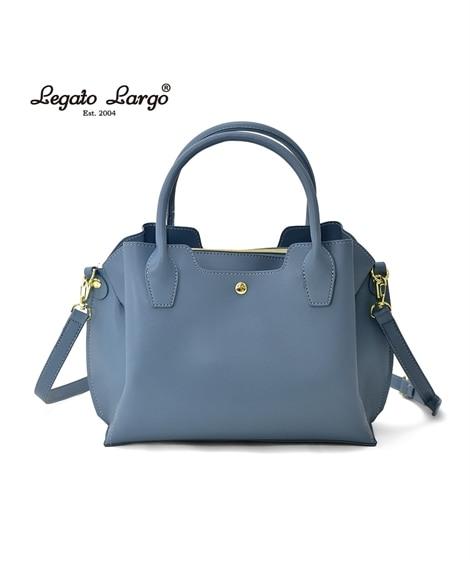 Legato Largo(レガートラルゴ)軽量ボンディングフェイクレザー2WAYボストン型ショルダーバッグ ボストンバッグ, Bags