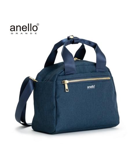 anelloGRANDE(アネログランデ)両面はっ水10ポケット杢調2WAYボストンバッグ ボストンバッグ, Bags