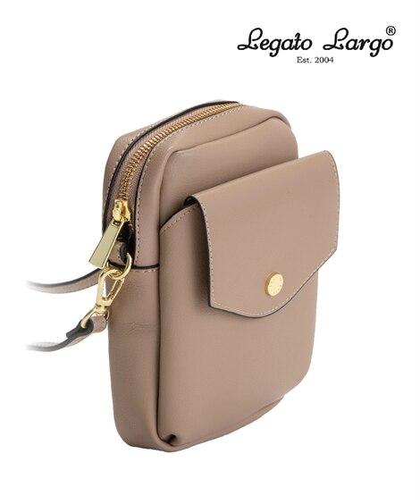 Legato Largo(レガートラルゴ)軽量ボンディングフェイクレザースマホショルダーバッグ ショルダーバッグ・斜め掛けバッグ, Bags