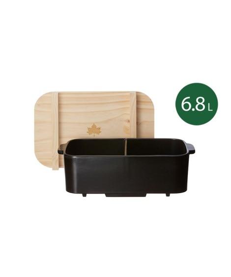 LOGOS(ロゴス)仕切りおでん土鍋(木蓋付) キャンプ用品...