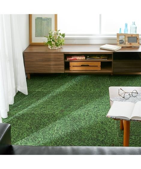 床面を彩るデザインプリントタイルカーペット(同色4枚セット)...