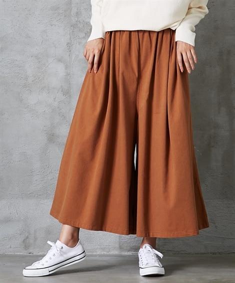 秋先取り!スカート見えフレアワイドパンツ (レディースパンツ...