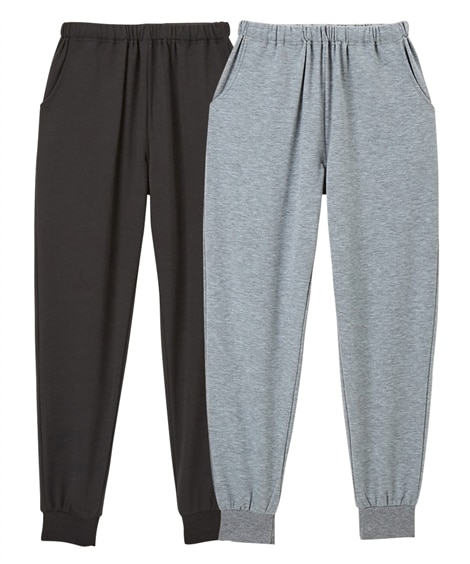 【WEB限定】ミニ裏毛薄手ルームボトム2枚組 (パジャマ・ルームウェア)Pajamas