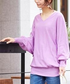 185946ca0e746 標準サイズ パープル レディース ニット・セーター 通販【ニッセン ...