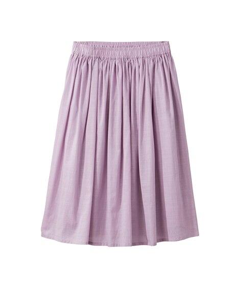 人気のため新色追加&再入荷!!綿100%ひざ丈フレアスカート...
