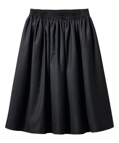 ギャザースカート(ひざ中丈) (大きいサイズレディース)スカ...