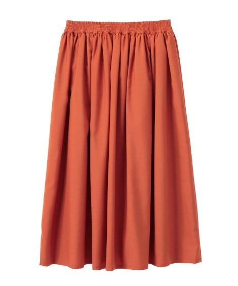 ギャザースカート(ミディ丈) (大きいサイズレディース)スカ...