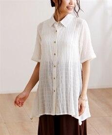 <ニッセン> テンセル麻シャーリングシャツ (大きいサイズレディース)ブラウスplus size 20