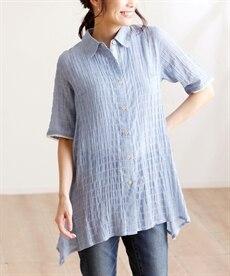 <ニッセン> テンセル麻シャーリングシャツ (大きいサイズレディース)ブラウスplus size 19