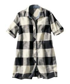 <ニッセン> テンセル麻シャーリングシャツ (大きいサイズレディース)ブラウスplus size 21