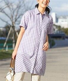 <ニッセン> テンセル麻シャーリングシャツ (大きいサイズレディース)ブラウスplus size 26