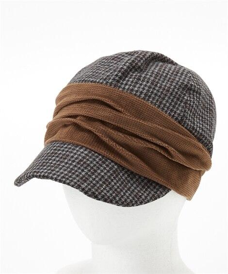 polka polka(ポルカポルカ)冬素材キャスケット 帽...