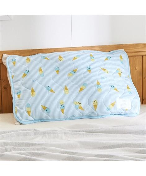 ひんやりアイス柄の接触冷感枕パッド 枕カバー・ピローパッド, Pillow covers(ニッセン、nissen)