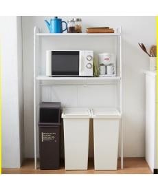 デッドスペース有効活用!幅伸縮ダストボックス上ラック レンジボード・家電ラックの商品画像