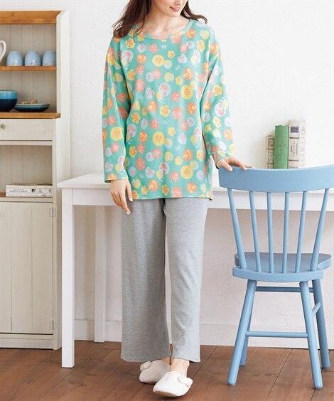北欧柄プリントルームウェア上下セット (パジャマ・ルームウェア)Pajamas