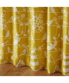 【送料無料!】北欧調小鳥柄遮光カーテン 遮光カーテンの写真