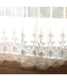 【送料無料!】トルコ刺繍極細ラインレースカーテン レースカーテン・ボイルカーテンの商品画像