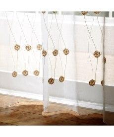 【送料無料!】トルコ刺繍ふわもこ玉レースカーテン ブラックフォーマルの商品画像