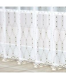 【送料無料!】トルコ刺繍フラワーライン柄レースカーテン レースカーテン・ボイルカーテンの商品画像
