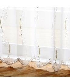 【送料無料!】トルコ刺繍ツタ柄レースカーテン ブラックフォーマルの商品画像
