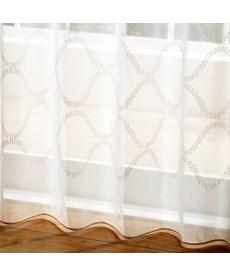 【送料無料!】トルコ刺繍ウェーブ柄レースカーテン レースカーテン・ボイルカーテンの商品画像