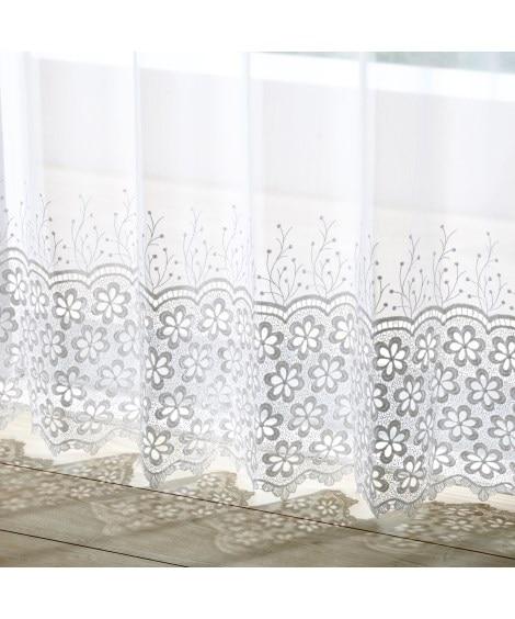 【送料無料!】トルコ刺繍クロッシェ裾レースカーテン レースカ...