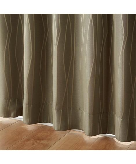 <ニッセン>【1cm単位オーダー】モダンライン柄遮光カーテン(1枚) ドレープカーテン(遮光あり・なし)