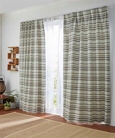 【1cm単位オーダー】アジアンボーダー柄遮光カーテン(1枚) ブラックフォーマルの商品画像