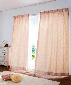 【送料無料!】パステル調リボン柄カーテンの小イメージ