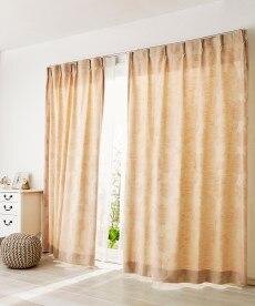 【送料無料!】シック調フラワー柄カーテン 遮光なしカーテンの商品画像