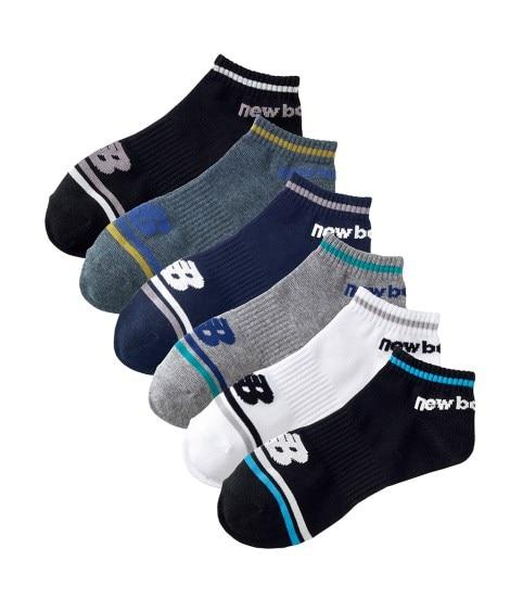 スニーカー合わせに!ニューバランスショートソックス6足組 メンズ靴下, Men's Socks