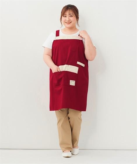 大きいサイズ  ポケットいっぱいシンプルエプロン エプロン・三角巾, Apron