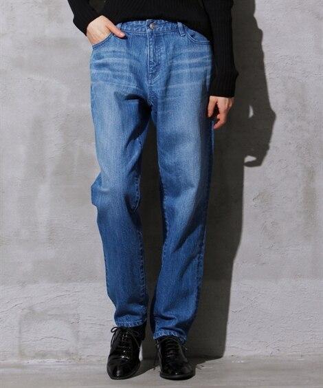 人気のため再入荷!!ボーイフレンドデニムパンツ (大きいサイズレディース)パンツ,plus size