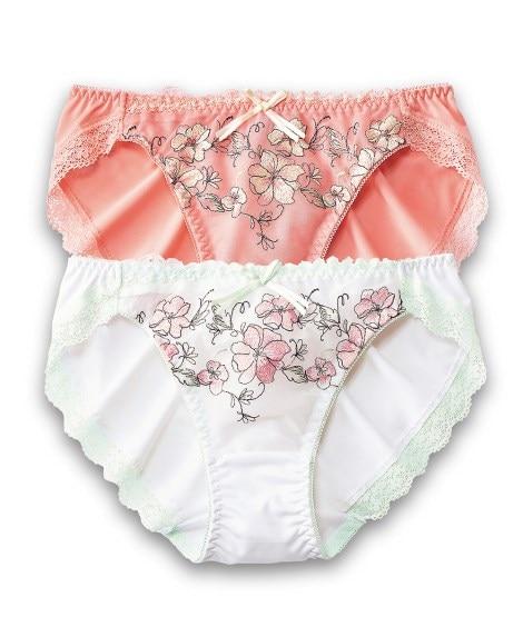 花柄ショーツ2枚組 スタンダードショーツ, Panties,...